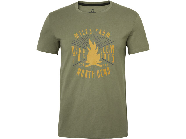North Bend Vertical Camiseta Hombre, green utility